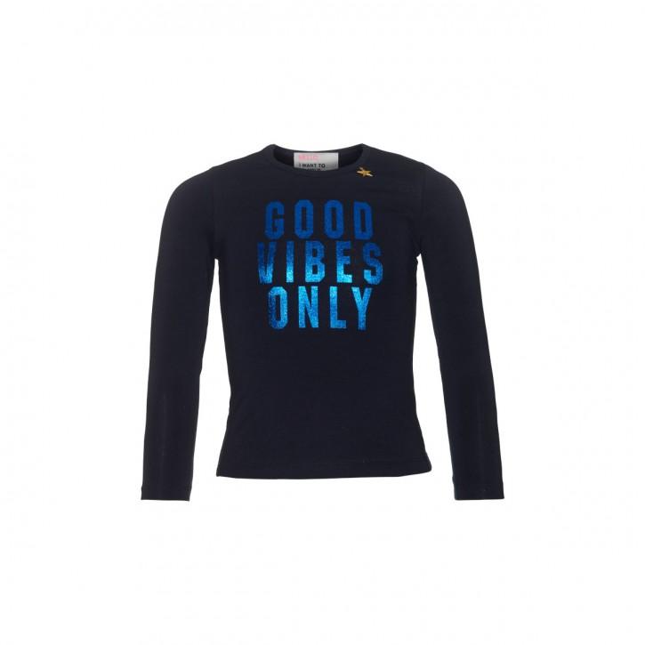 Mim-Pi Langarm-Shirt/Longsleeve GOOD VIBES ONLY blau
