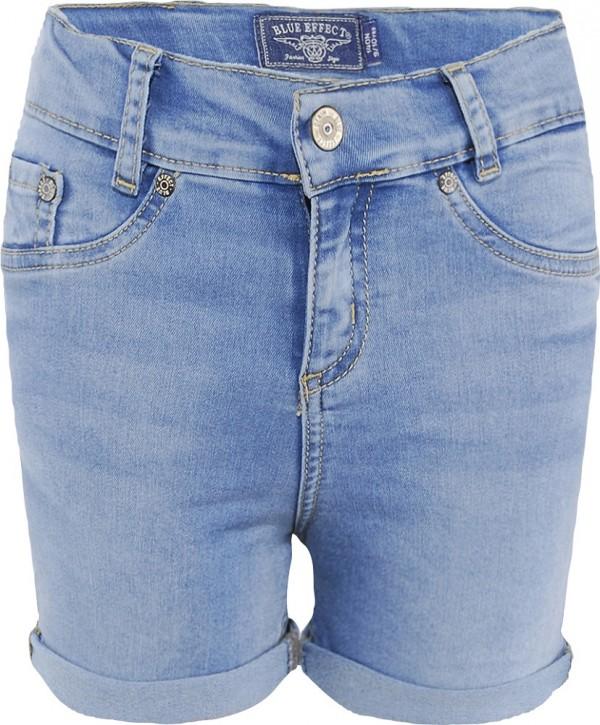 Blue Effect Mädchen High-Waist Jeans Short light blue SLIM