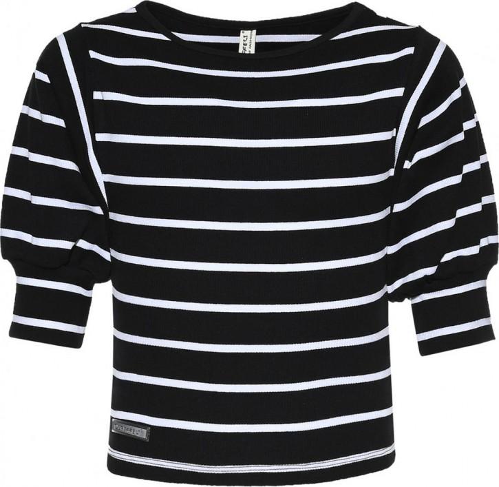 Blue Effect Mädchen 3/4-Arm-Shirt/Longsleeve Streifen schwarz weiß