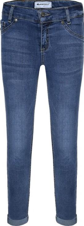 Blue Effect Mädchen cropped High-Waist Jeans medium blue SLIM