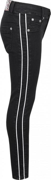 Blue Effect Mädchen Jeans ultrastretch seitlicher Streifen black denim NORMAL