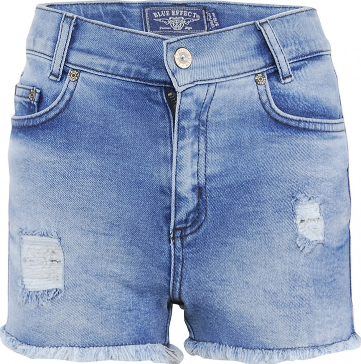 Blue Effect Mädchen High-Waist Jeans Short Open Seam light blue NORMAL
