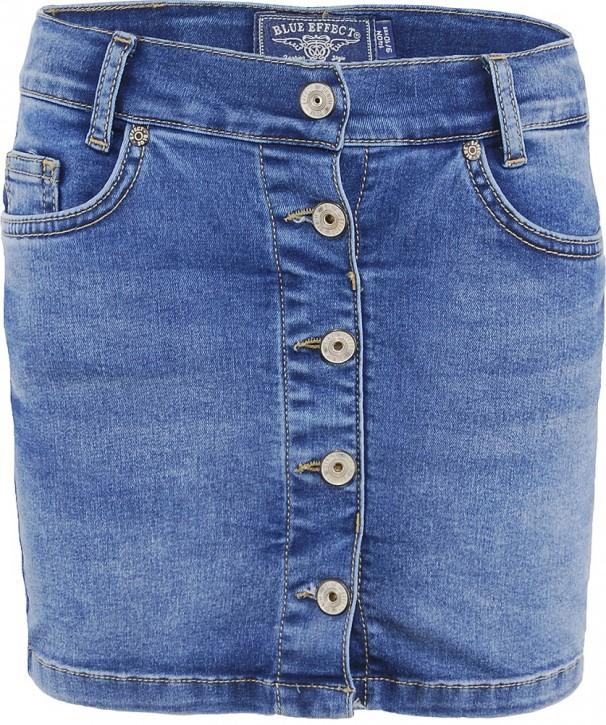 Blue Effect Mädchen Jeans Rock Knopfleiste vorne blue medium
