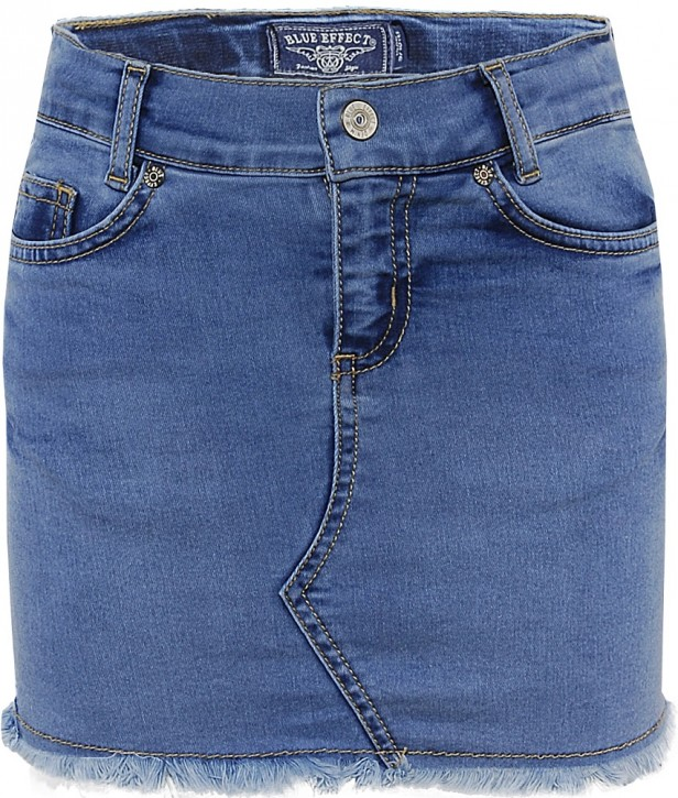 Blue Effect Mädchen Jeans Rock light blue