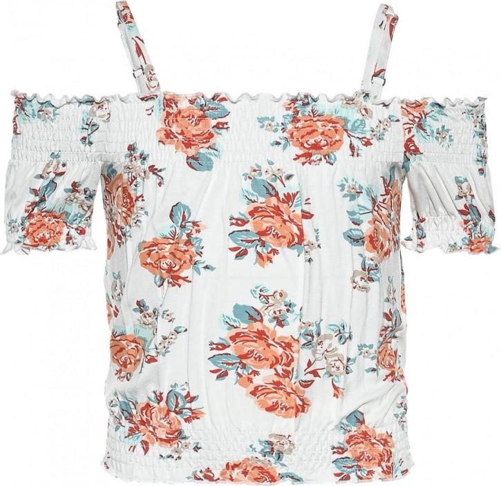 Blue Effect Mädchen Carmen T-Shirt Rosen orange