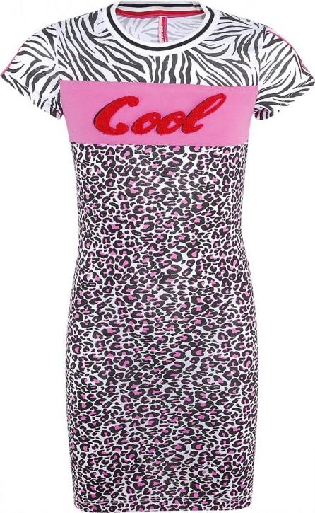 Blue Effect Mädchen Kurzarm Jersey-Kleid COOL Leo weiß