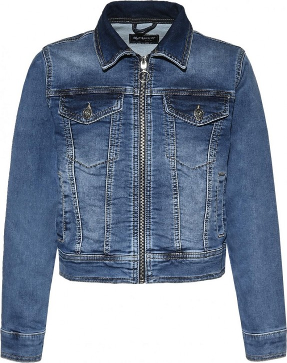 Blue Effect Mädchen Jeans-Jacke Sweat Denim light blue