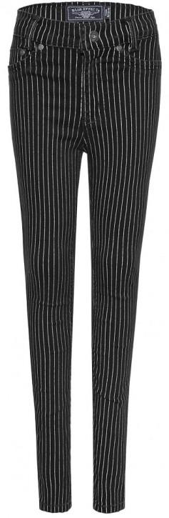 Blue Effect Mädchen High-Waist Jeans Streifen black stone SLIM