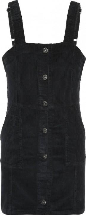 Blue Effect Mädchen Cord Latzkleid mit Knopfleiste schwarz