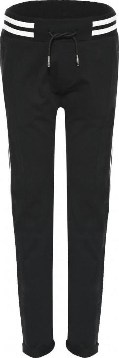 Blue Effect Mädchen Sweat-Hose mit seitl. Streifen schwarz