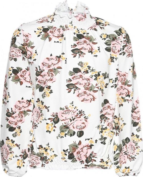Blue Effect Mädchen Langarm-Carmen-Shirt mit Stehkragen Blumen