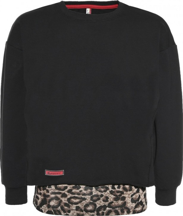 Blue Effect Mädchen Boxy-Sweat-Shirt + Top schwarz leo