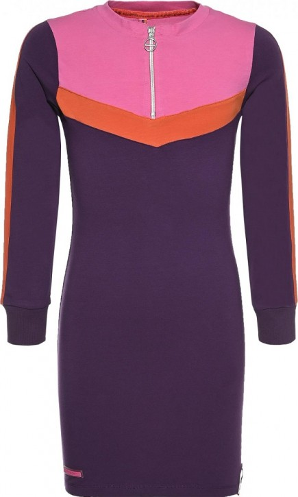 Blue Effect Mädchen Langarm Jersey-Kleid ATHLETIC  dunkel lila