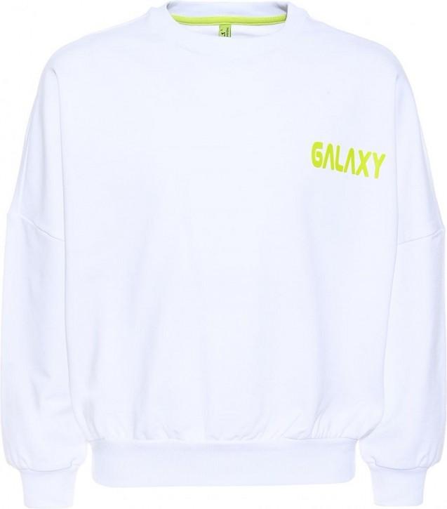 Blue Effect Mädchen Sweat-Shirt GALAXY schneeweiß
