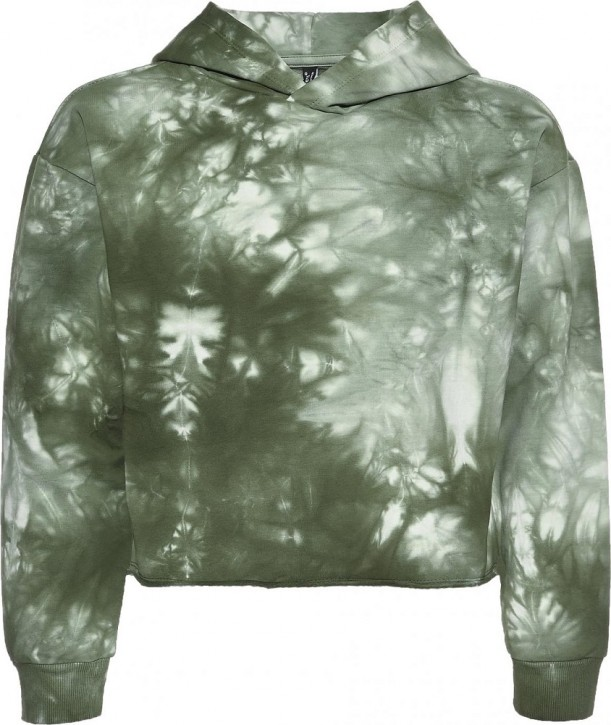 Blue Effect Mädchen Boxy Kapuzen-Sweat-Shirt / Hoodie army green batic