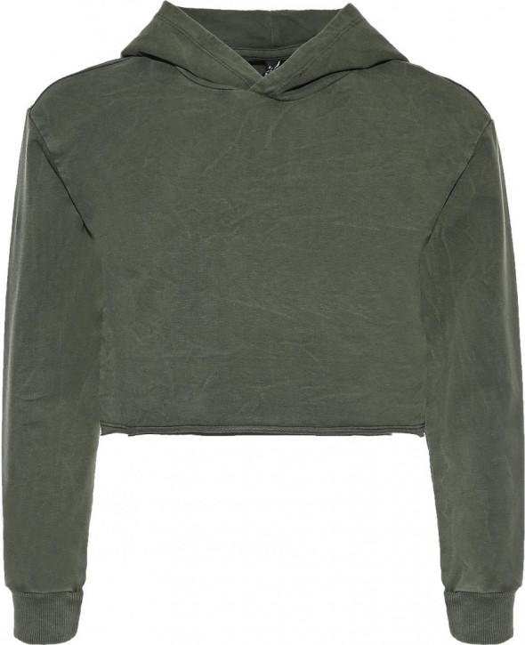 Blue Effect Mädchen Boxy Kapuzen-Sweat-Shirt / Hoodie army green used