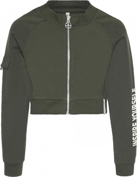 Blue Effect Mädchen Sweat-Jacke Inspire yourself army green