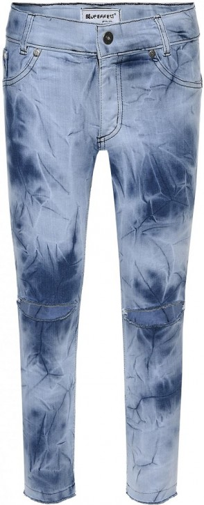 Blue Effect Mädchen cropped High-Waist Jeans ultrastretch Knee Cut medium blue NORMAL