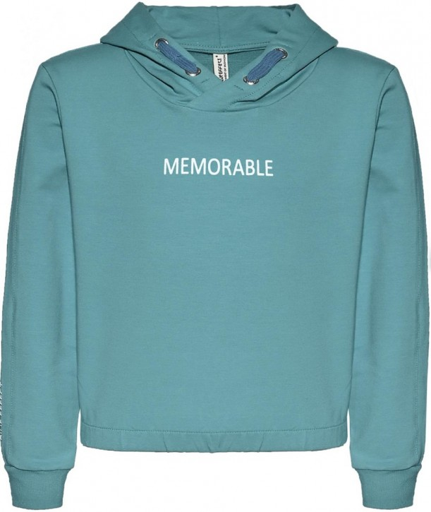 Blue Effect Mädchen Boxy Kapuzen-Sweat-Shirt / Hoodie MEMORABLE karibikgrün