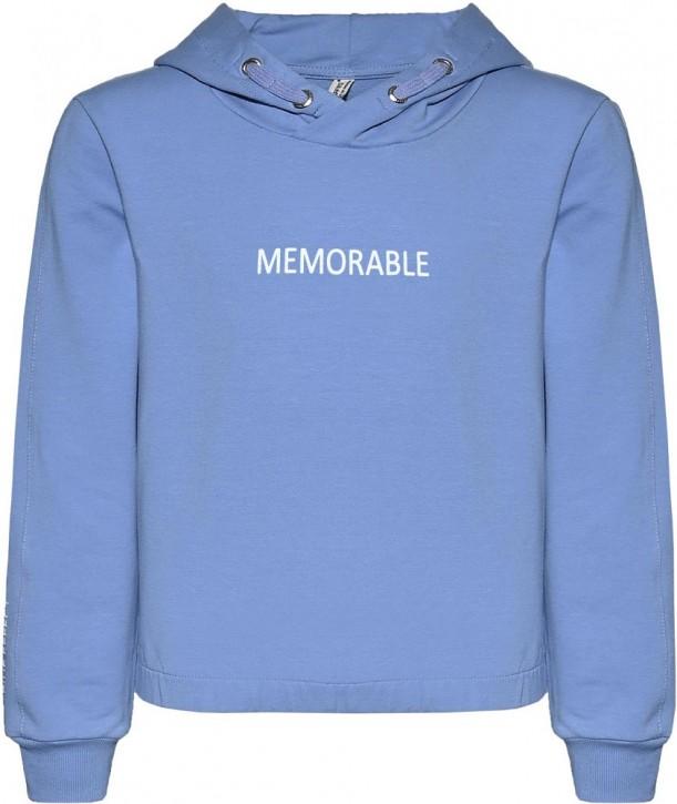 Blue Effect Mädchen Boxy Kapuzen-Sweat-Shirt / Hoodie MEMORABLE himmelblau
