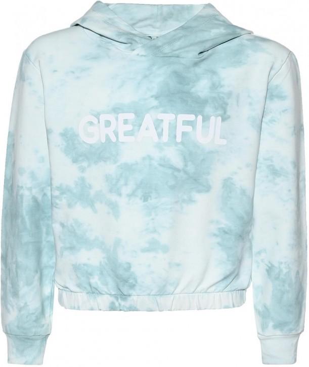 Blue Effect Mädchen Boxy Kapuzen-Sweat-Shirt / Hoodie GRATEFUL karibikgrün batik