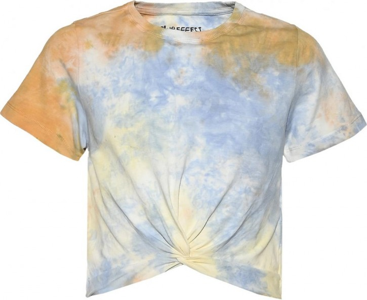 Blue Effect Mädchen Boxy T-Shirt colorful batik