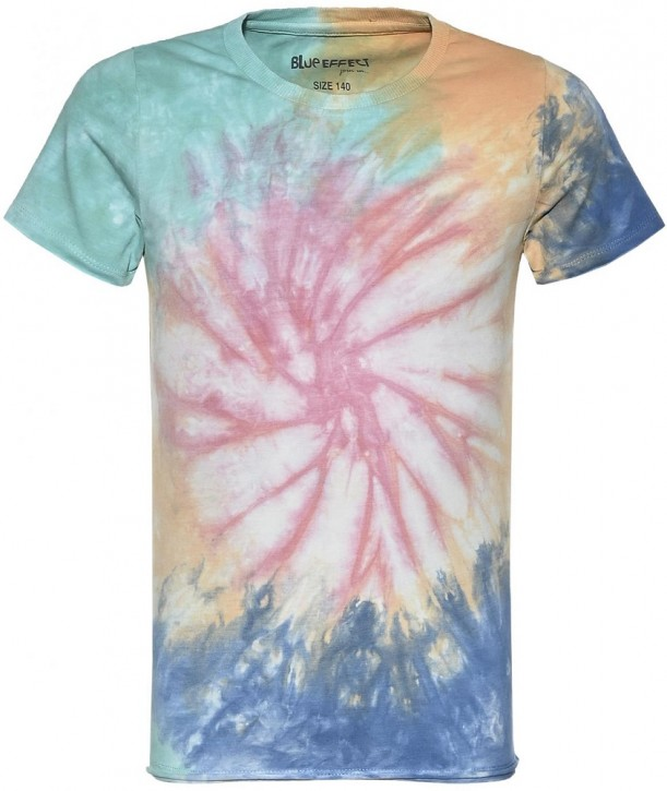 Blue Effect Mädchen T-Shirt batik colorful