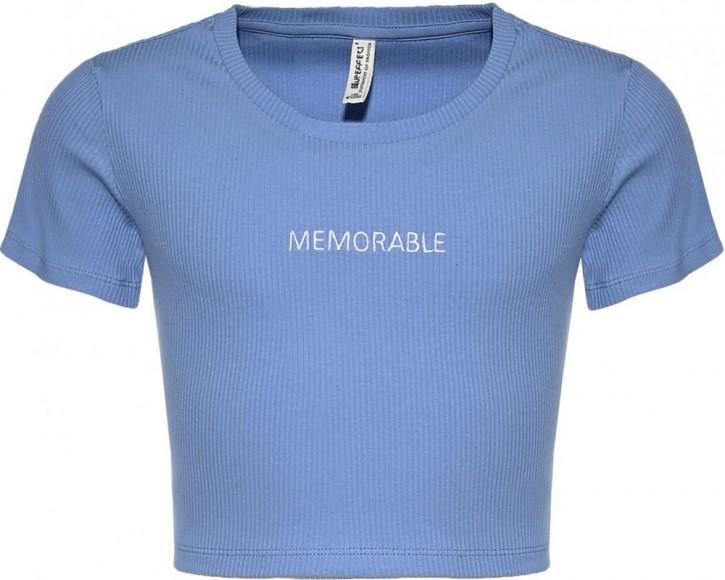 Blue Effect Mädchen geripptes Cropped T-Shirt MEMORABLE himmelblau