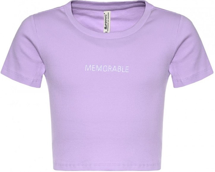 Blue Effect Mädchen geripptes Cropped T-Shirt MEMORABLE softlavendel