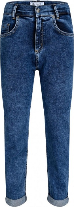 Blue Effect Mädchen cropped Balloon-Fit Jeans dark blue Pfeffer u Salz NORMAL