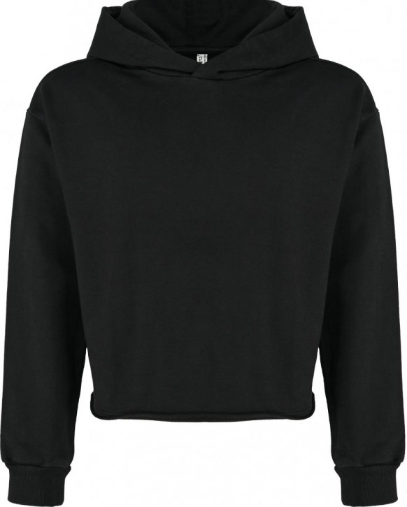 Blue Effect Mädchen Boxy Kapuzen-Sweat-Shirt / Hoodie schwarz