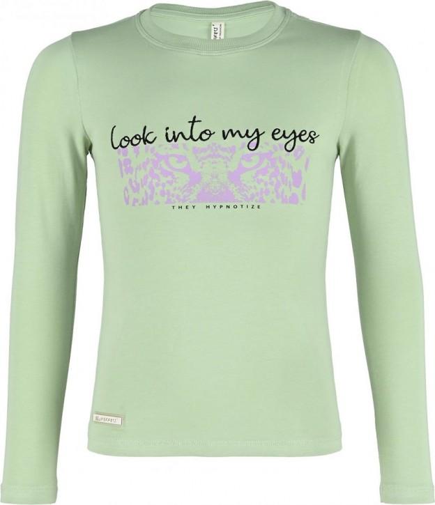 Blue Effect Mädchen Langarm-Shirt/Longsleeve LOOK INTO MY EYES moos