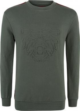 Blue Effect Jungen Sweat-Shirt/Sweater TIGERKOPF oliv