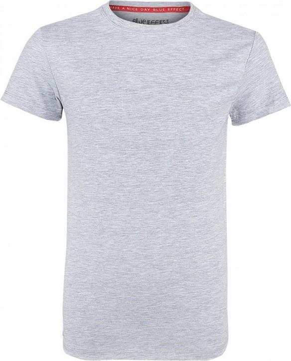 Blue Effect Jungen Rundhals Basic T-Shirt hellgrau melange