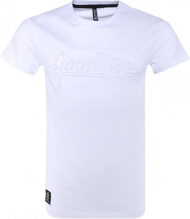 Blue Effect Jungen T-Shirt GOOD VIBES schneeweiß