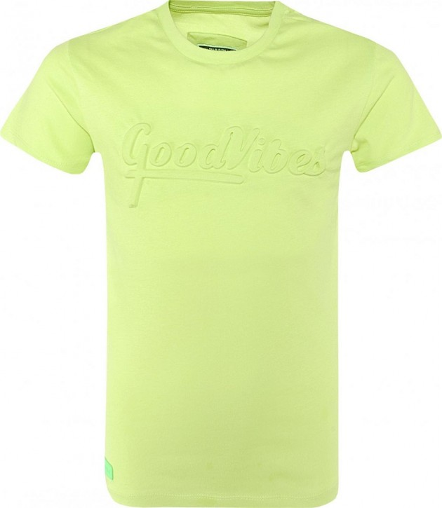 Blue Effect Jungen T-Shirt GOOD VIBES neon Apfel