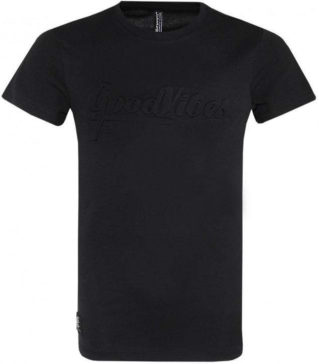Blue Effect Jungen T-Shirt GOOD VIBES schwarz