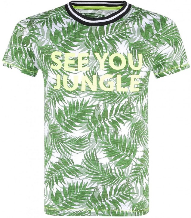 Blue Effect Jungen T-Shirt SEE YOU JUNGLE Blätter allover