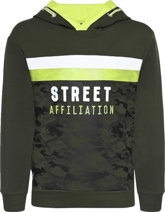 Blue Effect Jungen Kapuzen-Sweat-Shirt/Hoodie Camouflage-Street Affiliation army green