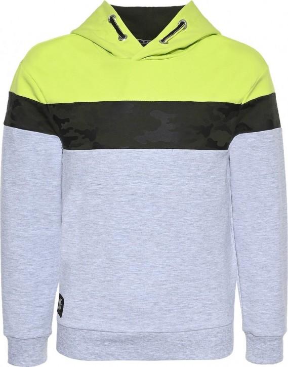 Blue Effect Jungen Kapuzen-Sweat-Shirt/Hoodie Camouflage hellgrau melange