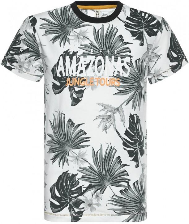 Blue Effect Jungen T-Shirt AMAZONASTRIP Blätter grün