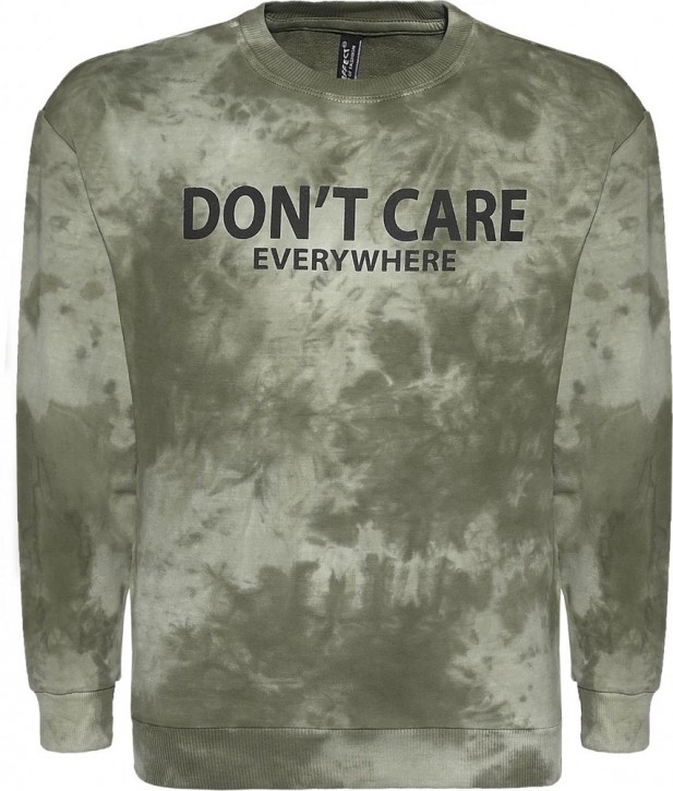 Blue Effect Jungen Sweat-Shirt DONT'T CARE dunkelgrün batik