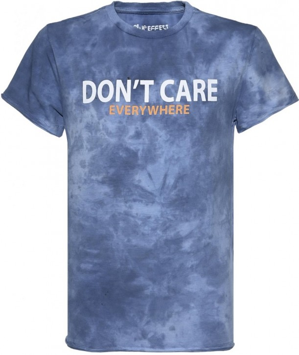 Blue Effect Jungen T-Shirt DON'T CARE dunkelmarine batik