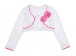 Mim-Pi Bolero weiß mit pink
