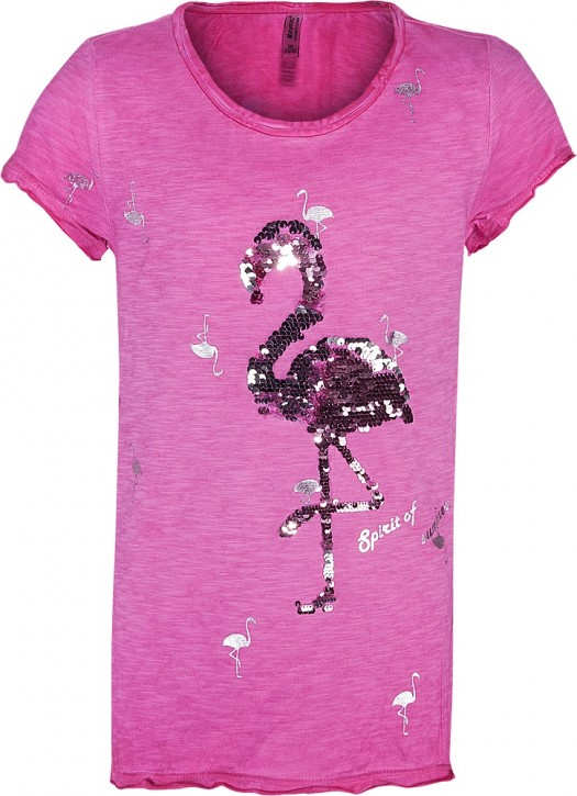 Blue Effect Mädchen T-Shirt Wendepailletten FLAMINGO pink
