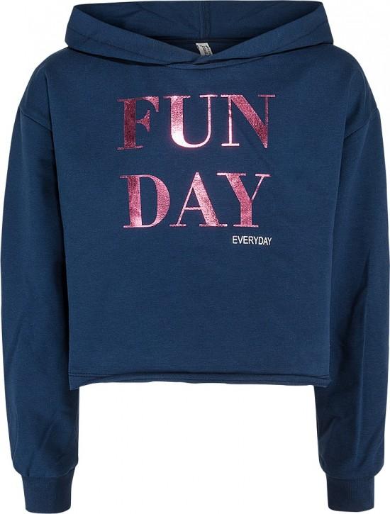 Blue Effect Mädchen Boxy Kapuzen-Sweat-Shirt FUN DAY dunkelmarine