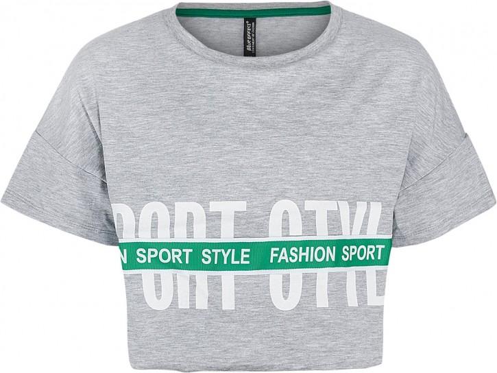 Blue Effect Mädchen Boxy-T-Shirt SPORT STYLE hellgrau melange