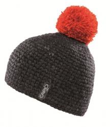 CAPO Handstrick-Mütze mit Bommel anthrazit