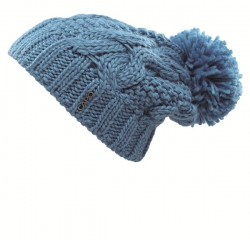 CAPO Sloppy-Strick-Mütze mit Pompon blue lagoon