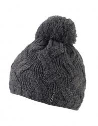 CAPO Strick-Beanie/Mütze mit Pompom antrazit